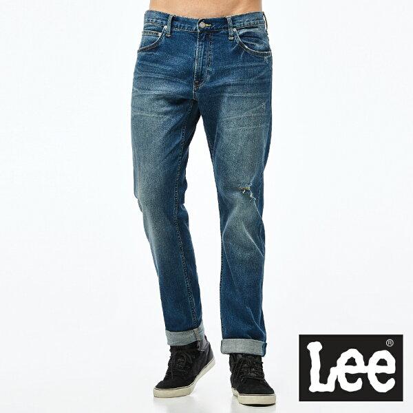 Lee726中腰舒適小直筒牛仔褲VL-男款