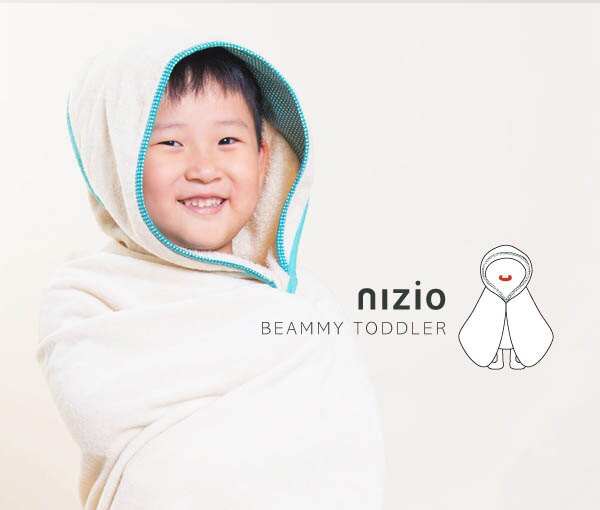 ollobaby瓦吉司 - Nizio - 多功能成長型浴巾 (藍綠點點) 6