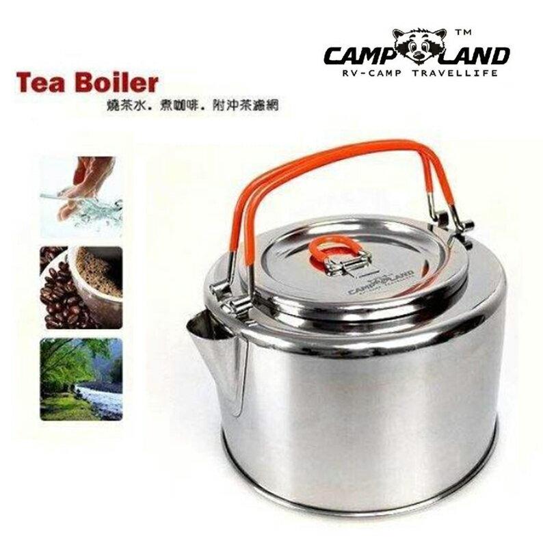【露營趣】CAMP-LAND RV-ST750 1公升不鏽鋼燒茶壺 燒水壺 咖啡壺 附沖茶濾網 非snow peak