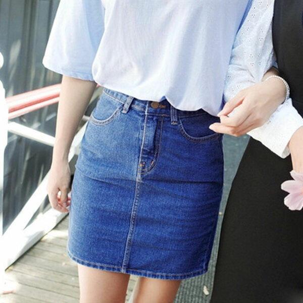 PS Mall 顯瘦牛仔包臀短裙 裙子 窄裙~T662~ ~  好康折扣