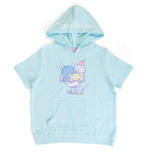 【真愛日本】4901610238752短袖連帽T恤-TX甜點ACQ三麗鷗山姆企鵝企鵝短袖T恤帽T