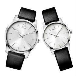 CK 卡文克萊  CITY ( K2G211C6+K2G231C6 ) 城市經典簡約對錶/白面43+31mm