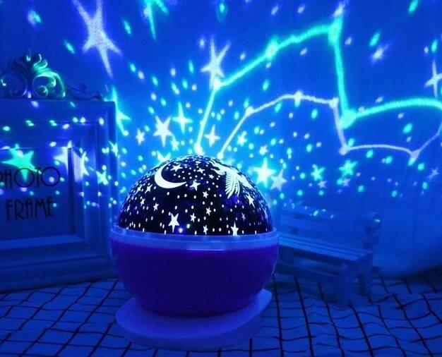 ★超葳★浪漫星空燈 夢幻投影儀 旋轉滿天星光 投影燈 投射燈 小夜燈