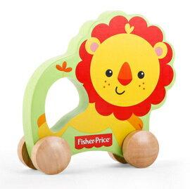【悅兒樂婦幼用品?】Fisher-Price 費雪 木質玩具系列-推著走小獅子