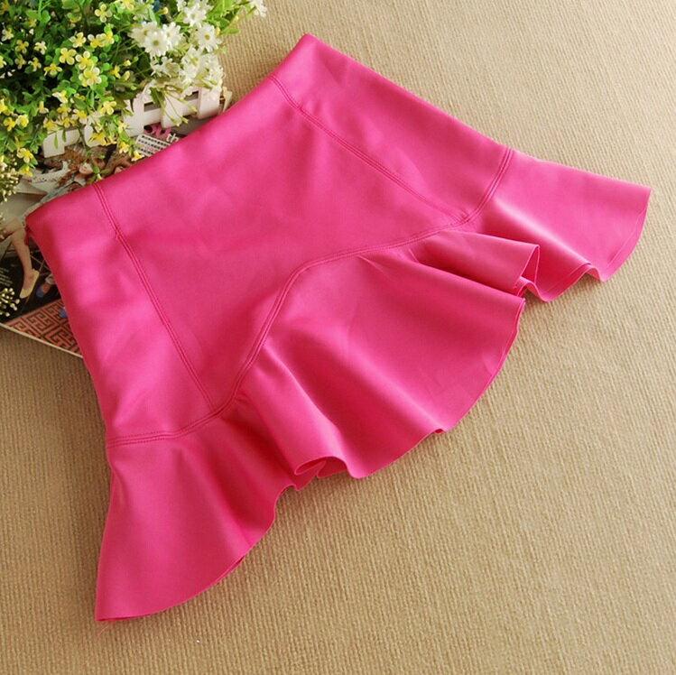 韓版荷葉邊高腰魚尾下擺包臀半身裙(2色S~L) 【OREAD】 - 限時優惠好康折扣