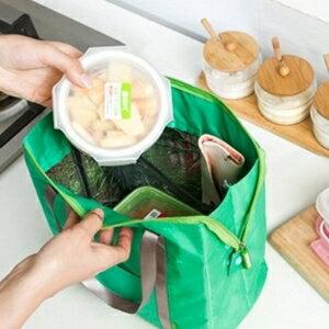 美麗大街【BF030E8】SAFEBET 旅行必備室外便當保鮮包方形手拎包冰包飯盒保溫包