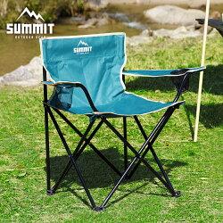 日本同步 戶外休閒椅 SUMMIT戶外系列 戶外輕巧摺疊椅/露營折疊椅-綠色 / 日本MODERN DECO