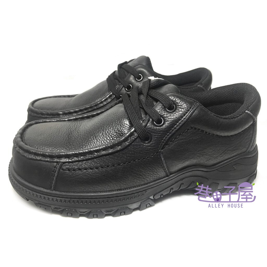 【巷子屋】Hanama悍馬 男款頭層牛皮防穿刺鋼頭安全鞋 H級 [6523] 黑 超值價$690
