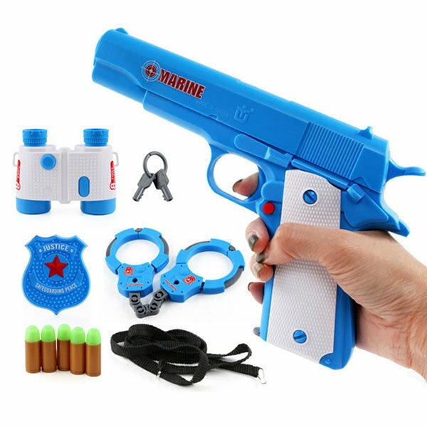 【888便利購】警察遊戲精緻盒裝全配件(手槍+手銬+望遠鏡+警徽)