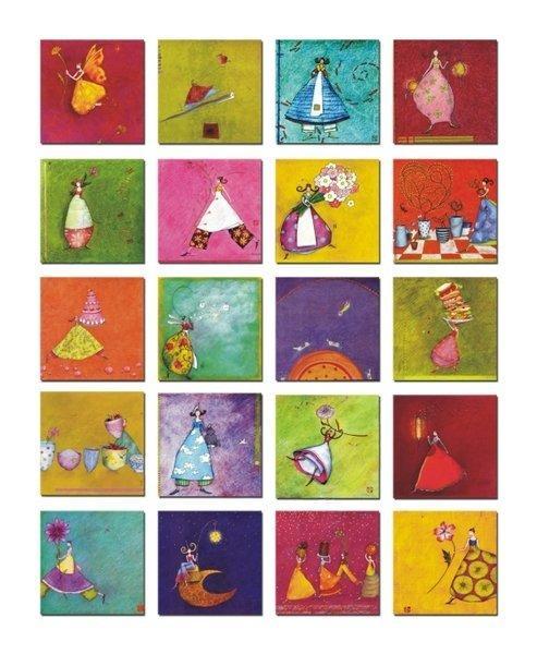 阿曆克斯小鎮-小仙子簡約無框畫裝飾畫小版畫家居飾品壁畫一套