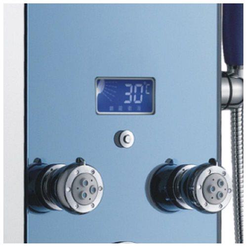 AKDY AK-878392H Tempered Glass Shower Panel Rain Style Massage System 2
