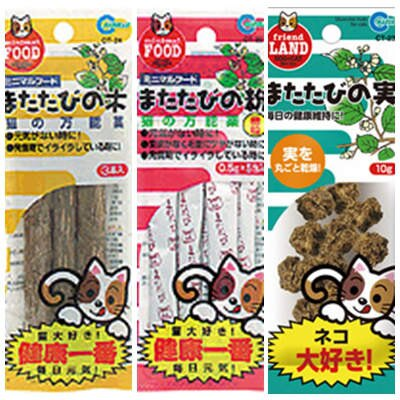 日本 Marukan 貓用木天蓼系列 3種 天蓼粉/天蓼果實/天蓼棒