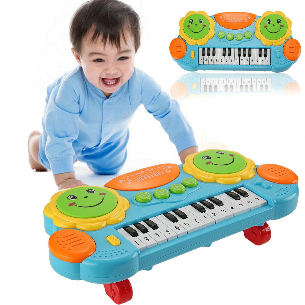 Baby Kids Educational Development Music Instrument Toy Battery Electronic Organ Keyboard Hand Beat Pat Drum Piano 0