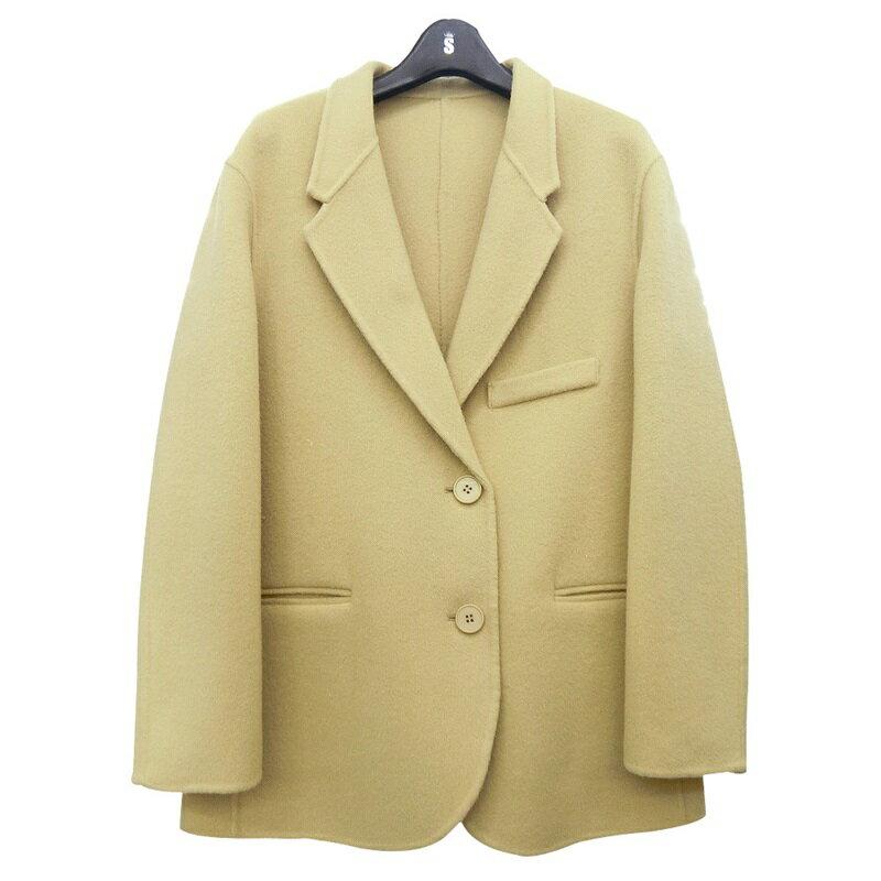 毛呢大衣羊毛外套-短版純色寬鬆翻領女外套5色73wb17【獨家進口】【米蘭精品】 2