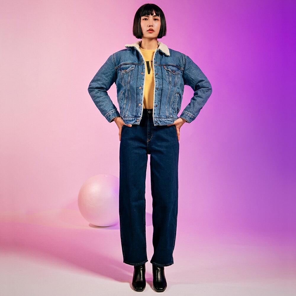 Levis 女款 Balloon 高腰合身氣球版丹寧牛仔寬褲  /  LEJ energy 3D褲  /  Orta歐洲丹寧  /  及踝款 7