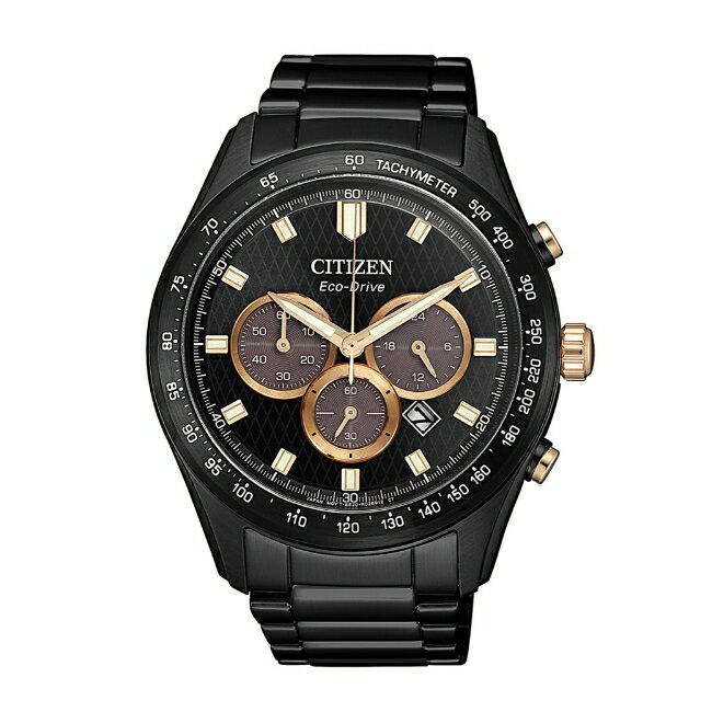 CITIZEN星辰 CA4458-88E 三眼計時光動能腕錶