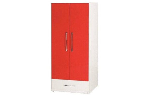 【石川家居】830-02(紅白色)衣櫥(CT-112)#訂製預購款式#環保塑鋼P無毒防霉易清潔