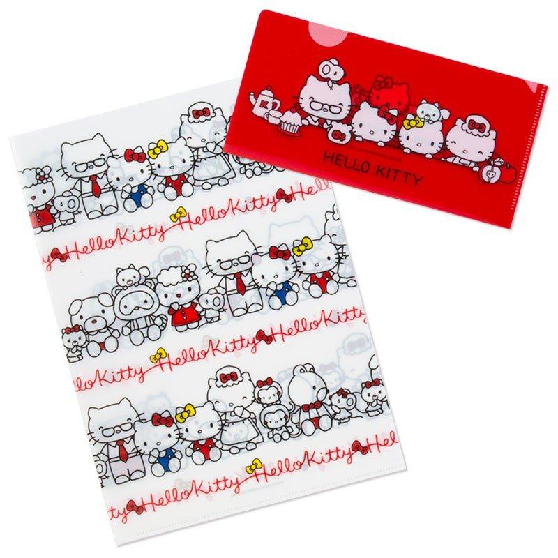 X射線【C062388】Hello Kitty 文件夾A4-TOUCH,檔案夾  文件夾  文件袋  收納盒  收納袋  資料夾  板夾  強力夾