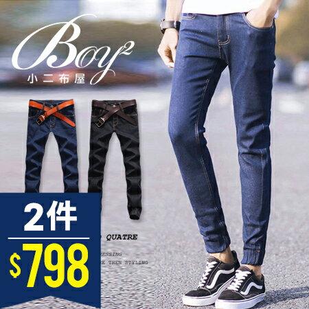 ☆BOY-2☆【NZ95001】韓簡約休閒牛仔縮口褲 0