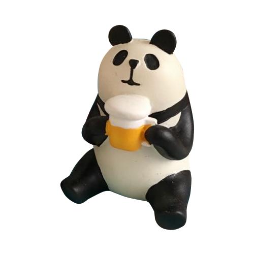Decole 日本擺飾公仔 / 小玩偶 - Concombre 喝啤酒的熊貓 ( ZCB-65875 ) 現貨