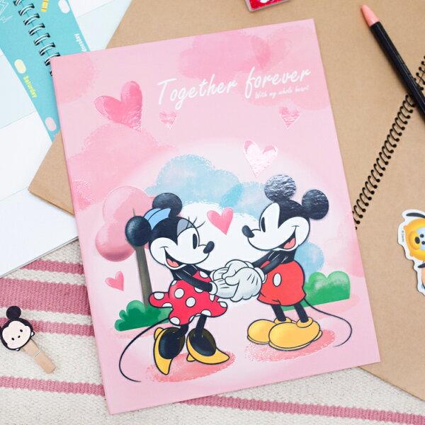 PGS7迪士尼系列商品-迪士尼精裝硬式萬用卡片(A4)米奇Mickey米妮Minnie【SHU71561】