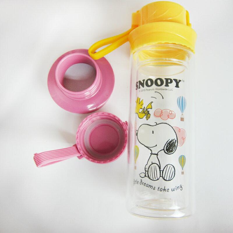 Snoopy史奴比尚雅雙層玻璃杯300ml