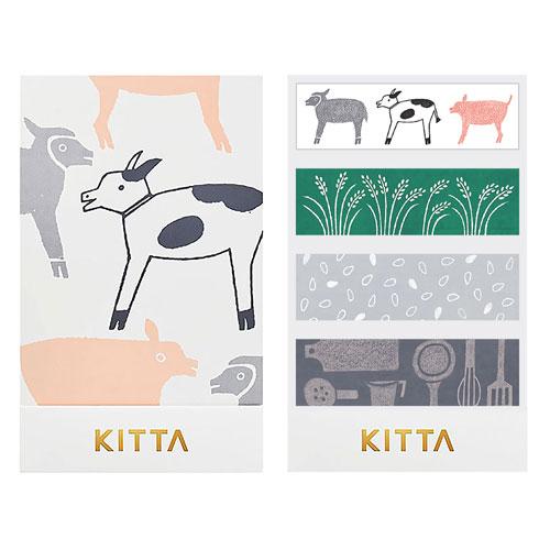 【日本KITTA】隨身攜帶和紙膠帶KIT029農場裡本