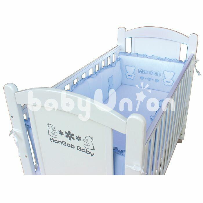 Mam Bab夢貝比 - 貝比熊純棉嬰兒床加高單護圈 -L (68x120cm大床適用) 3