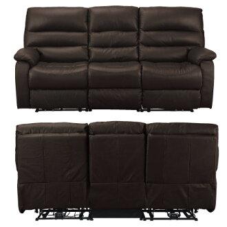 ◎全皮3人用頂級電動可躺沙發 BELIEVER2 DBR