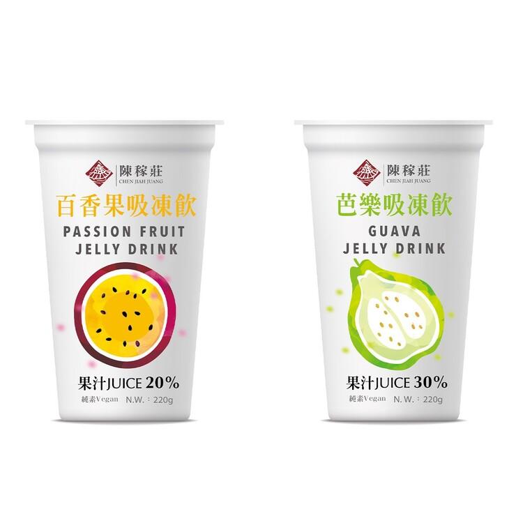 陳稼莊 果汁吸凍飲 220公克 X 12入 (百香果芭樂)