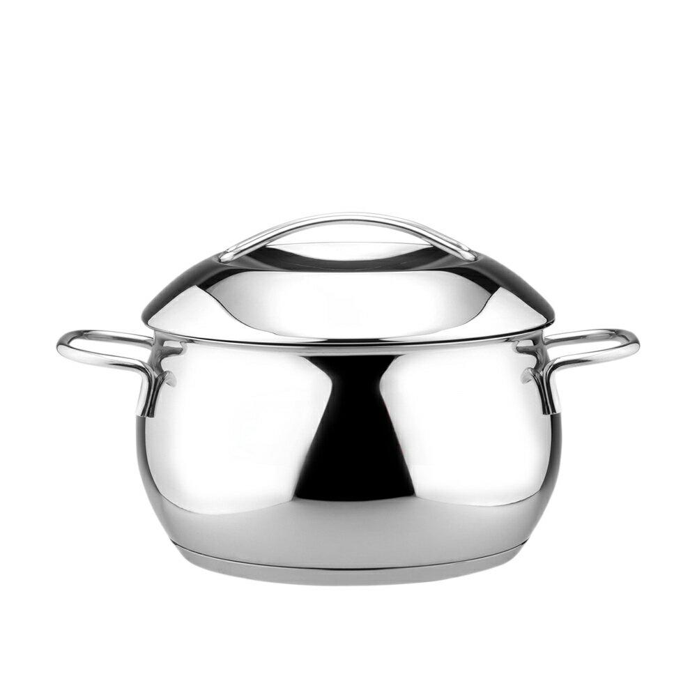 【潔豹】COCONUT 椰型湯鍋 [雙耳] / 18cm / 2.5L / 304不鏽鋼 / 湯鍋