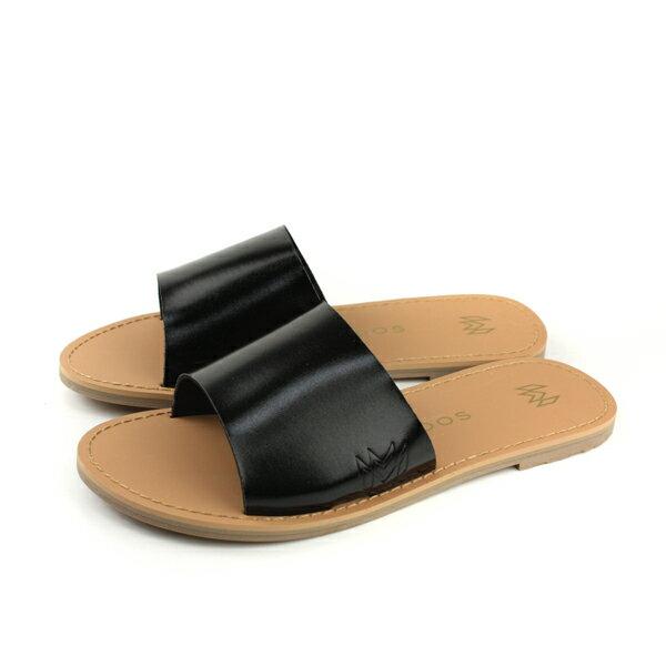 MALVADOSICON經典系列涼鞋拖鞋黑色女鞋3007-1233no018
