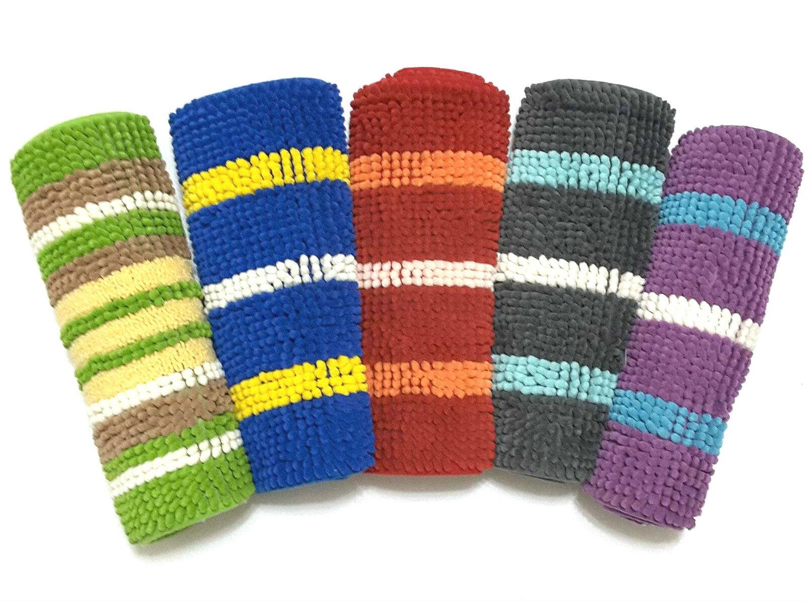 La maison生活小舖《超吸水止滑繽紛色彩雪尼爾腳踏墊》吸水防滑效果佳 柔順觸感 共有5款顏色 地墊/軟墊/腳踏墊/止滑墊/吸水墊/軟毛墊