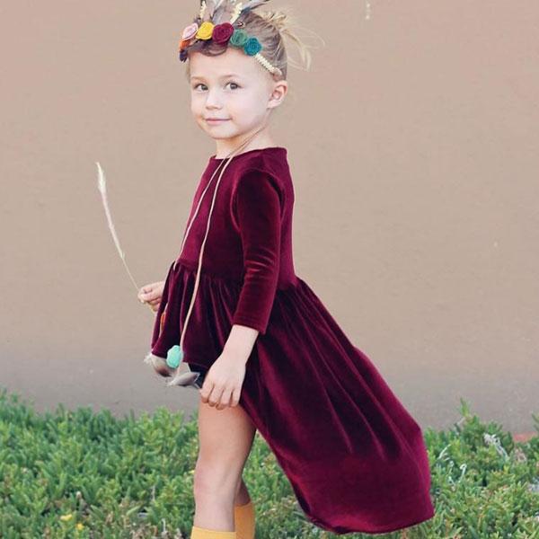 ins 前短後長 天鵝絨 洋裝 長袖 上衣 長版 金絲絨 光澤 絨布 緞面 聖誕節 過年 婚禮 小禮服 裙子 ANNA S.