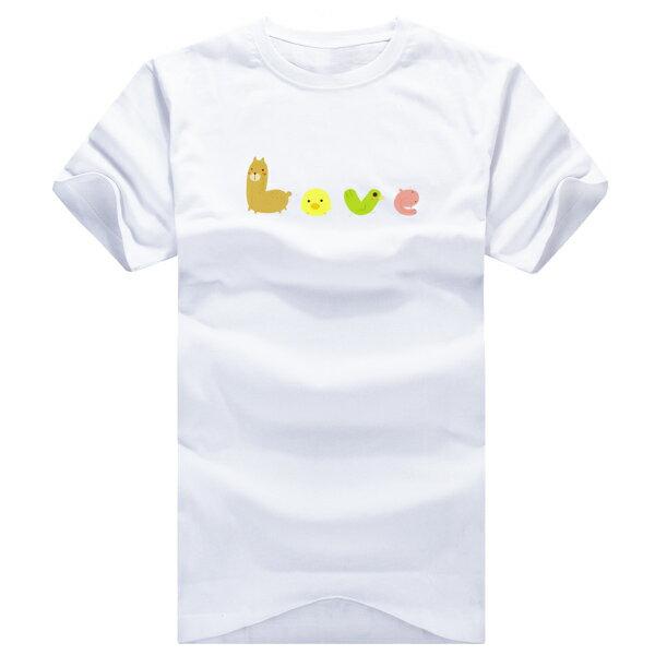 ◆快速出貨◆獨家配對情侶裝.客製化.T恤.最佳情侶裝.獨家款.純棉短T.MIT台灣製.班服.動物LOVE【YC002】可單買.艾咪E舖 4