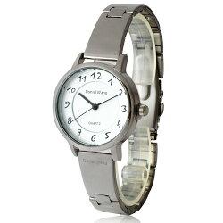 Daniel Wang 3139-S 典雅小巧錶帶銀框手寫數字質感手錶
