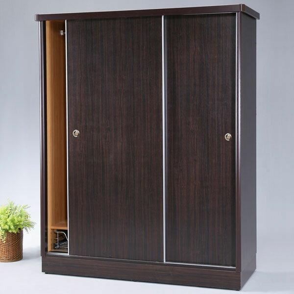 優世代居家生活館:衣櫃衣櫥收納櫃衣物收納櫥櫃置物櫃推門衣櫥《Yostyle》娜莉5x7滑門衣櫥-胡桃