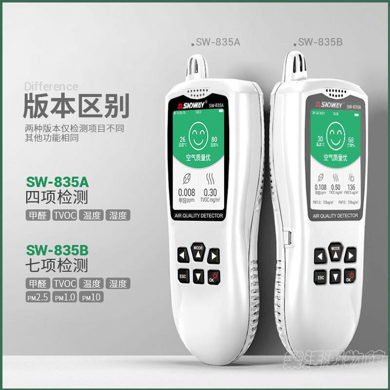 SNDWAY/深達威空氣質量檢測儀 家用甲醛PM2.5PM10空氣粉塵檢測儀1愛尚優品