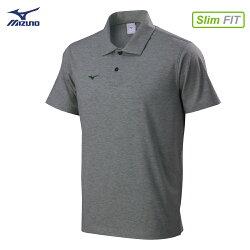 32TA801605(灰)天絲棉合身版型 男短袖POLO衫【美津濃MIZUNO】