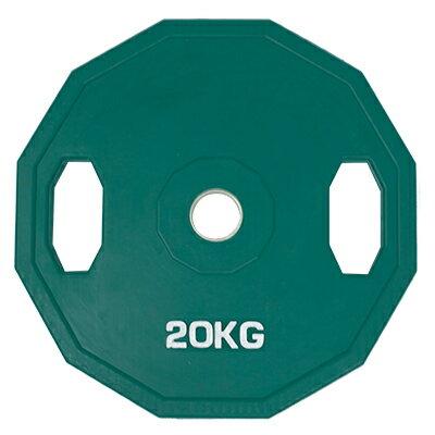 TPOWER 奧林匹克標準槓片20KG《環保無味》包膠大孔徑設計-單片入