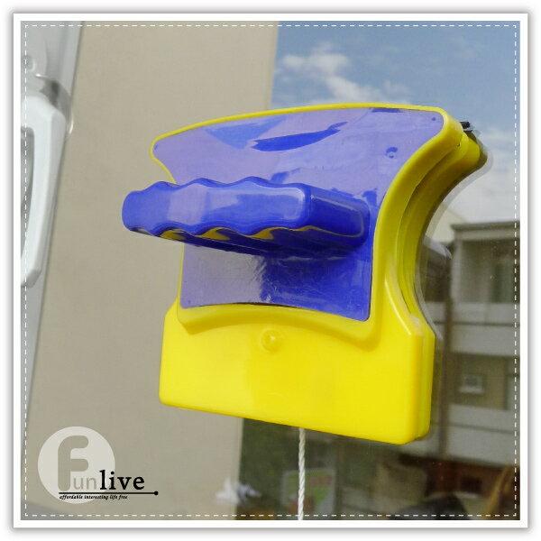【aife life】磁力玻璃清潔刷/強力雙面 磁刷/魚缸磁力刷/玻璃刮刀/窗戶玻璃清潔器/打掃用品