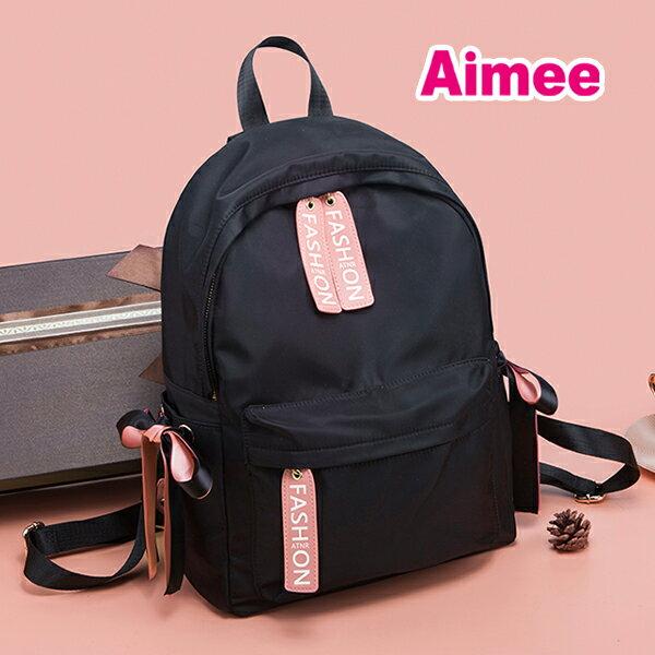 【預購】【Aimee】弘益大學街頭36公分首爾甜蜜寶貝蝴蝶結緞帶時尚後背包《大款小款》旅行包媽媽包A4包包運動包日系尼龍包帆布包