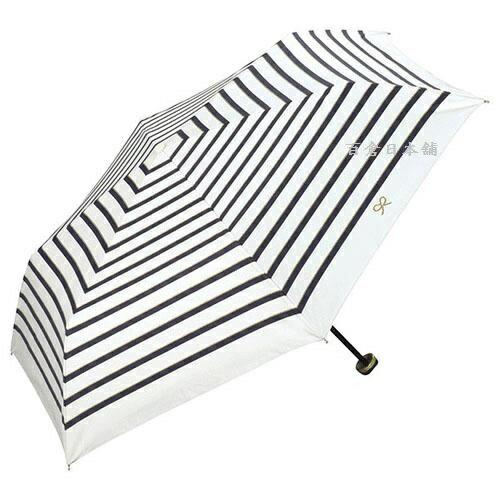 【百倉日本舖】日本進口w.p.c蝴蝶結條紋折傘雨傘遮陽傘(3色)