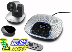 [美國直購] 高清視頻和音訊會議系統Logitech ConferenceCam CC3000e All-In-One HD Video and Audio Conferencing System (..