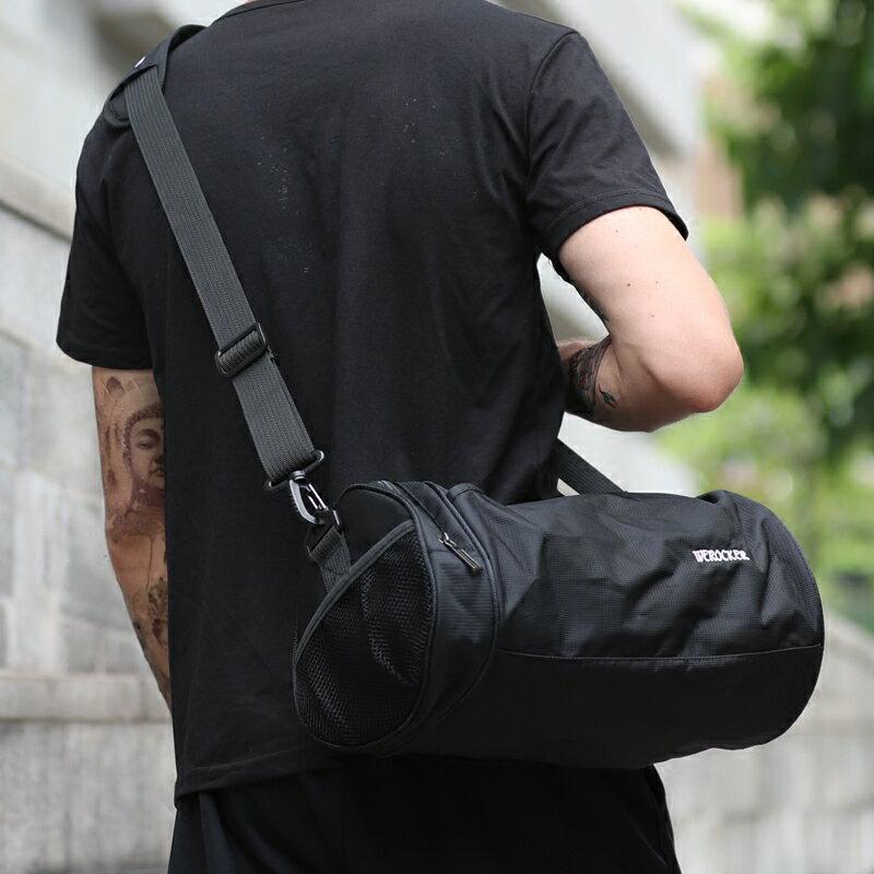 健身包 運動健身包包男小號圓筒背包斜背包斜背單肩男包房籃球訓練包桶包『XY14510』