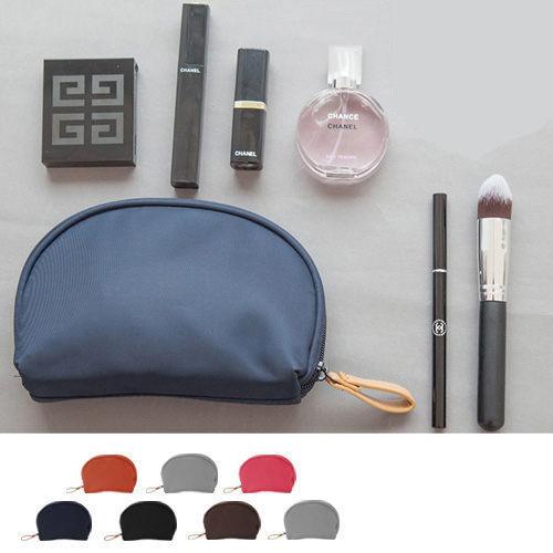 輕巧半圓形貝殼包多層次大容量魔術收納化妝包/旅行包(1入)【巴布百貨】