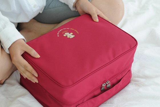 繽紛旅行收納大拉桿包 韓國旅行大容量旅游戶外防水收納包旅行衣物收納包拉杆箱分層整理袋手提包 行李包