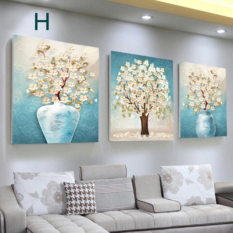掛畫三件組【RS Home】北歐麋鹿無框掛畫相框木質壁畫裝飾畫板民宿攞飾油畫掛鐘掛畫 6