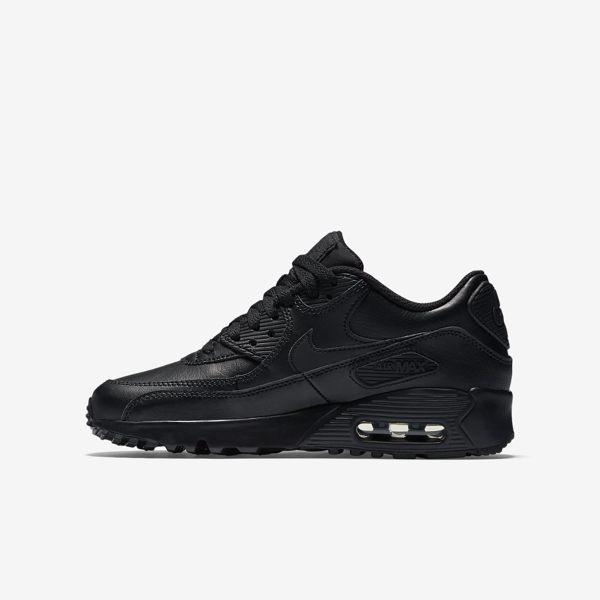 《限時特賣↘7折免運》Nike AIR MAX 90 LTR GS 女鞋 大童鞋 慢跑鞋 休閒 氣墊 全黑 【運動世界】 833412-001