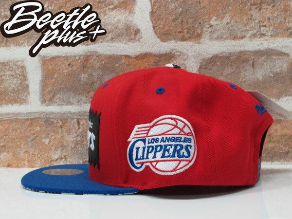 BEETLE PLUS 全新 MITCHELL&NESS X BAIT X NBA 洛杉磯快艇 LOS ANGELES CLIPPERS 紅藍 貼布 聯名 後扣棒球帽 MN-125 1